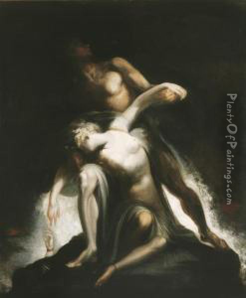 The Vision Of The Deluge Oil Painting - Johann Henry Fuseli