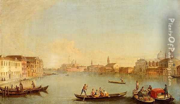 View Of San Giorgio Maggiore Seen From The South, Venice Oil Painting - Johann Richter