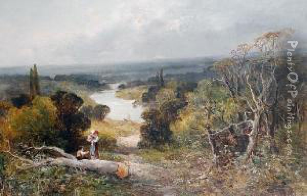 Richmond Hill From The Star And Garter Oil Painting - John Adams Parker
