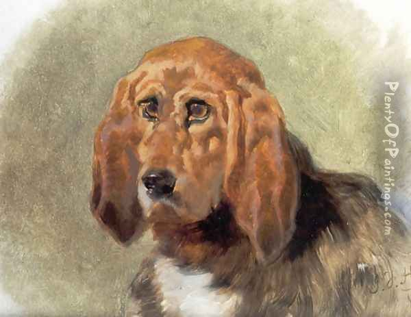 Study of a Hound Oil Painting - John Frederick Herring Snr