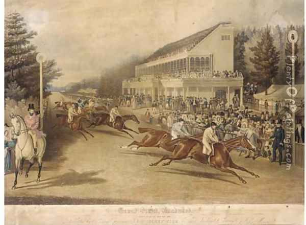 Grand Stand, Ascot, (Gold Cup Day 1839) Oil Painting - John Frederick Herring