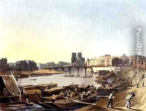 Notre Dame from Views on the Seine Oil Painting - John Gendall