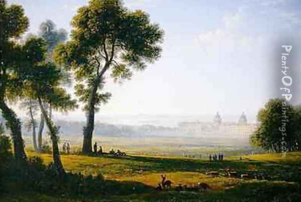 Greenwich Oil Painting - John Glover