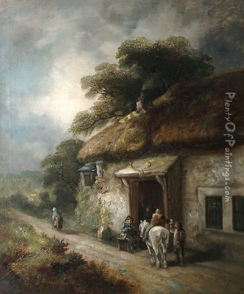 Image result for painting of horse drawn cart