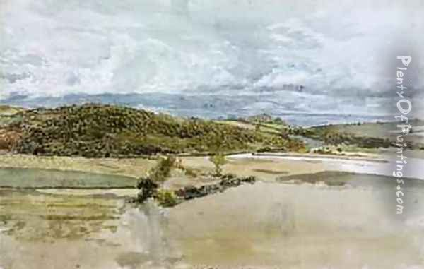 Landscape in North Wales 1813 Oil Painting - John Linnell