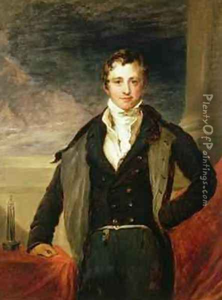 Portrait of Sir Humphry Davy 1778-1829 Oil Painting - John Linnell