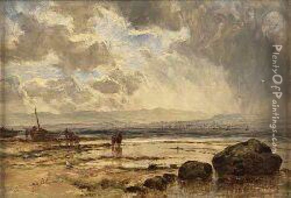 Greenock From Helensburgh Oil Painting - John Milne Donald
