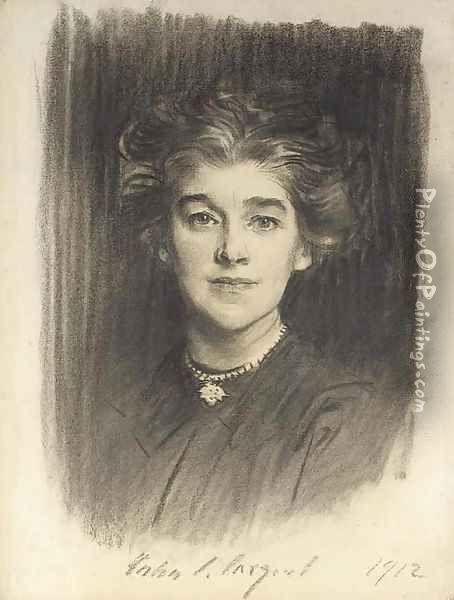 Portrait of Mrs. Godfrey William Paget Mellor (Norah Alston) Oil Painting - John Singer Sargent