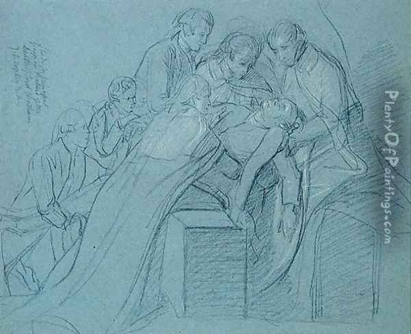 Study for the Central Group in the Death of Earl of Chatham Oil Painting - John Singleton Copley