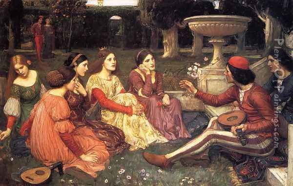 A Tale from the Decameron 1916 Oil Painting - John William Waterhouse