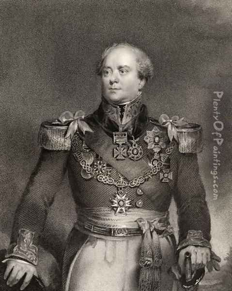 Sir Archibald Campbell, 1st Baronet, engraved by John Cochran (fl.1821-65), from National Portrait Gallery, volume IV, published c.1835 Oil Painting - John Wood