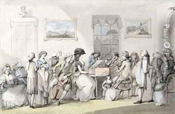 The Concert Party Oil Painting - John the Younger Dunthorne