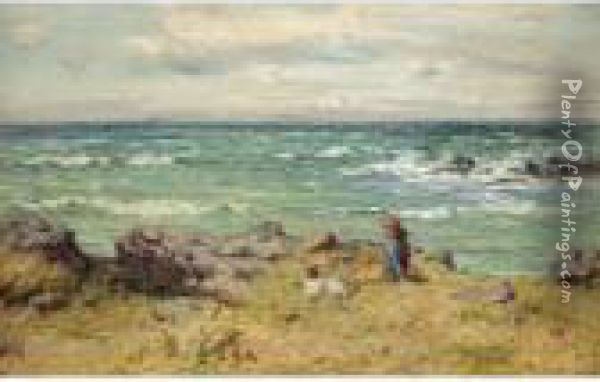 By The Summer Sea Oil Painting - Joseph Henderson