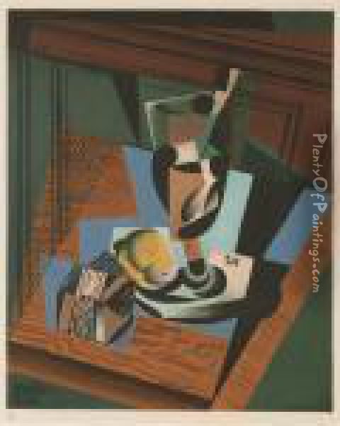 Nature Morte Oil Painting - Juan Gris