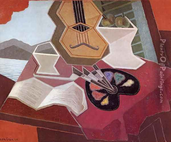 Table Overlooking the Sea Oil Painting - Juan Gris