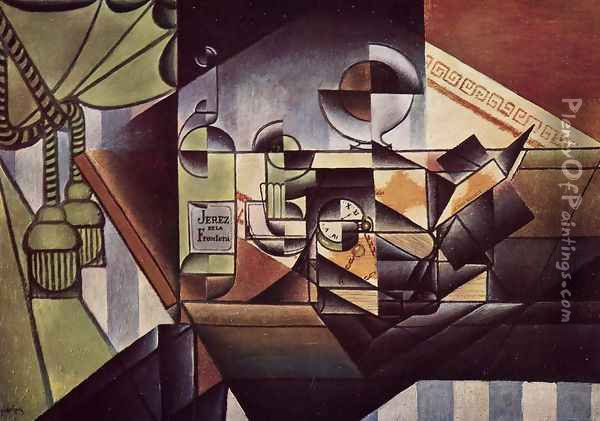 The Watch Oil Painting - Juan Gris