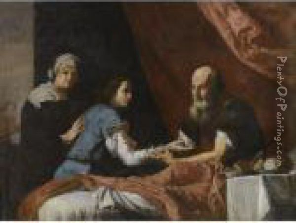 Jacob Stealing Esau's Birthright Oil Painting - Jusepe de Ribera