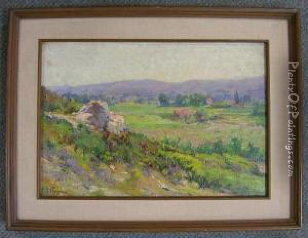 View In Provence Oil Painting - Justin Jules Claverie
