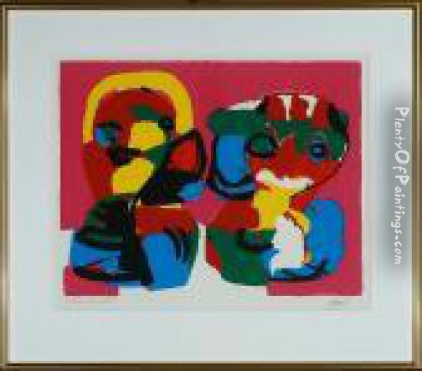 Figure Composition Oil Painting - Karl Appel