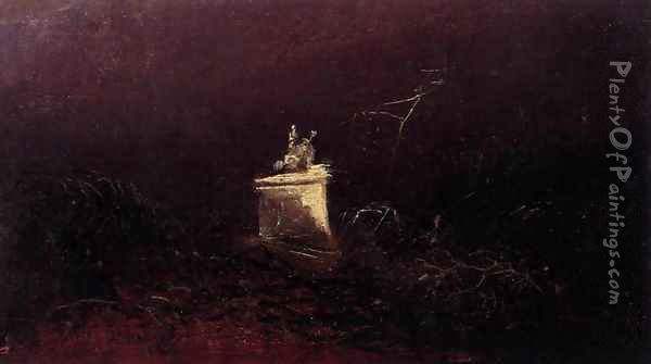 Study for a Funerary Monument Oil Painting - Karl Blechen