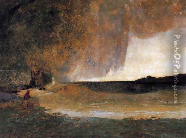 The Bay of Rapallo 1829-30 Oil Painting - Karl Blechen