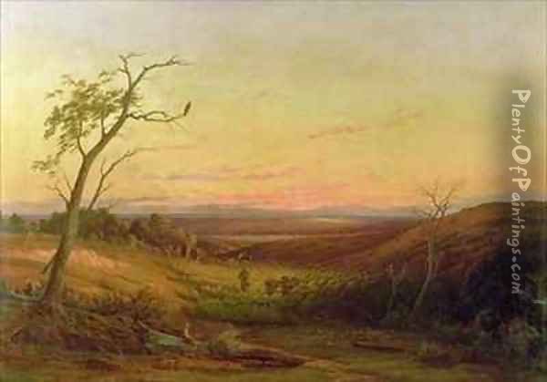 A View of Adelaide at Sunset Oil Painting - Knud Geelmuyden Bull