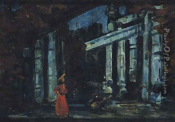 Stage design Oil Painting - Konstantin Alexeievitch Korovin