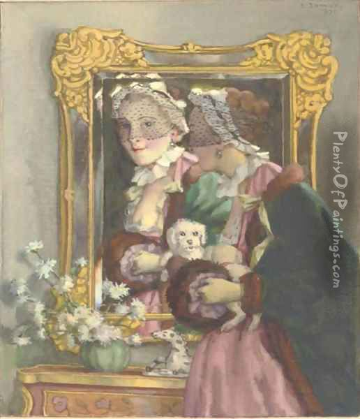 A fair reflection Oil Painting - Konstantin Andreevic Somov