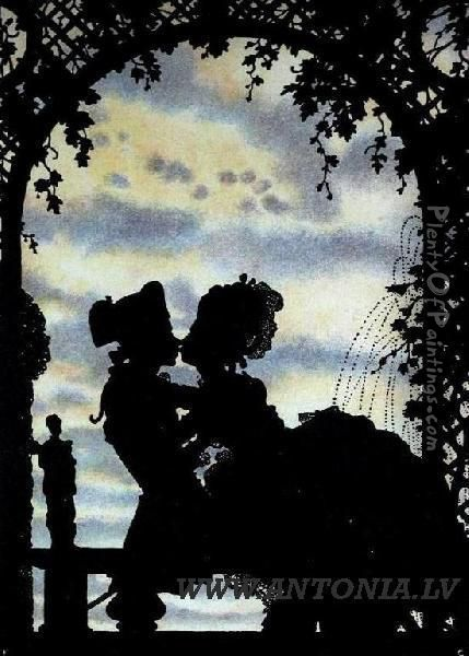 Marquise Life Oil Painting - Konstantin Andreevic Somov