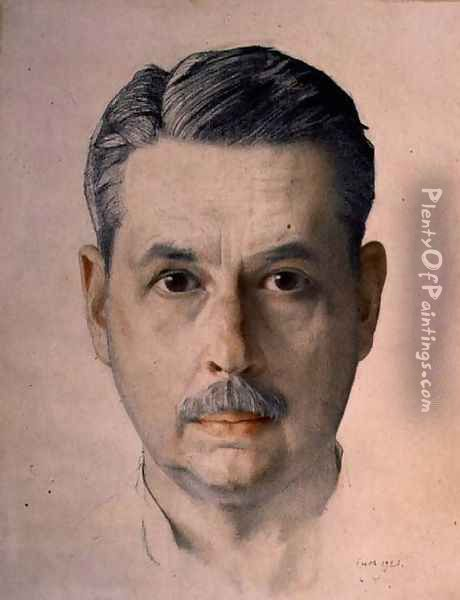 Self Portrait, 1921 Oil Painting - Konstantin Andreevic Somov