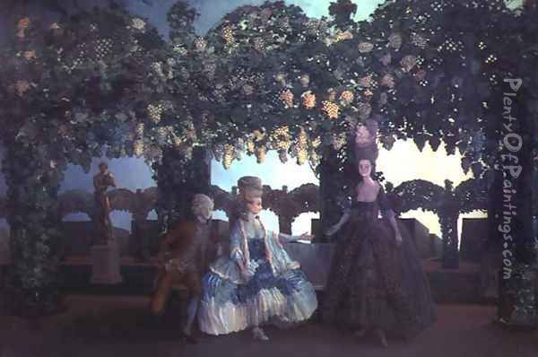 The Evening, 1900-02 Oil Painting - Konstantin Andreevic Somov