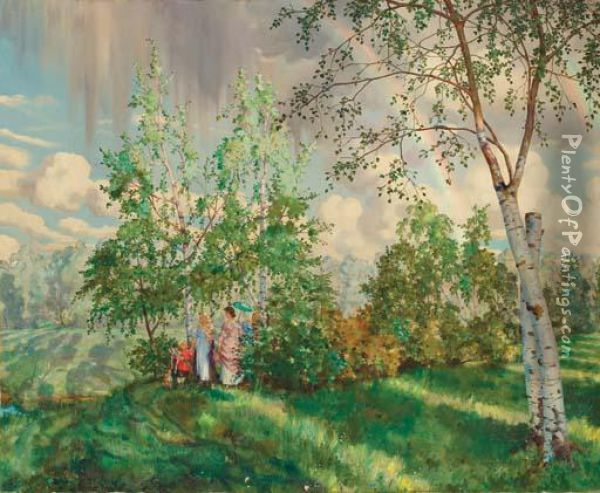 The Rainbow Oil Painting - Konstantin Andreevic Somov
