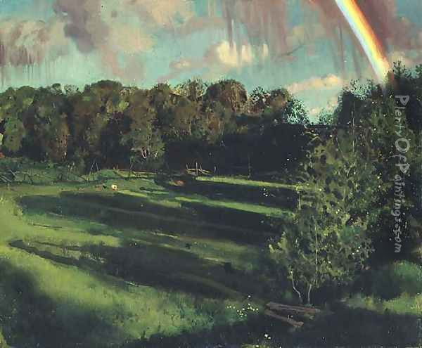 Twilight Theme, 1900 Oil Painting - Konstantin Andreevic Somov