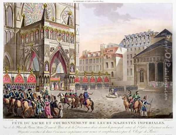 Sacred Festival and Coronation of their Imperial Majesties Oil Painting - Le Coeur, Louis
