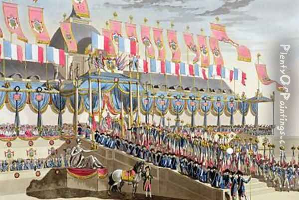 Sacred Festival and Coronation of their Imperial Majesties 5 Oil Painting - Le Coeur, Louis