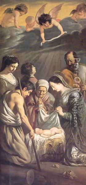 The Adoration of the Shepherds 1630-32 Oil Painting - Le Nain Brothers