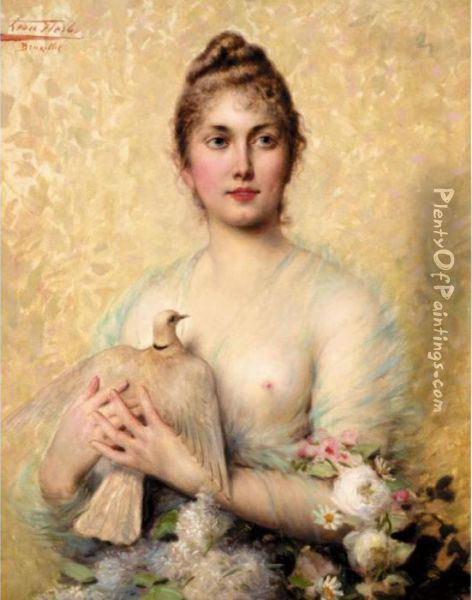 A Beauty Oil Painting - Leon Herbo