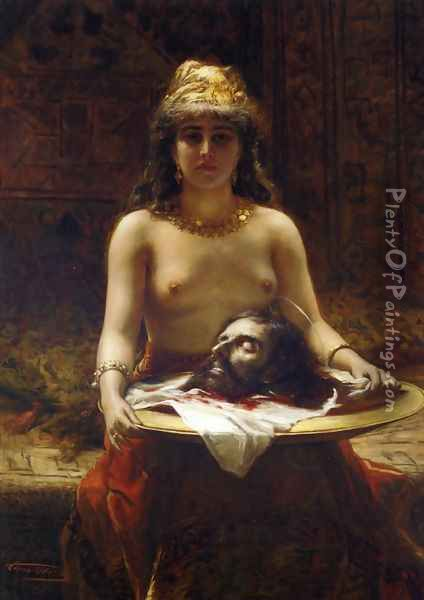Salome Oil Painting - Leon Herbo