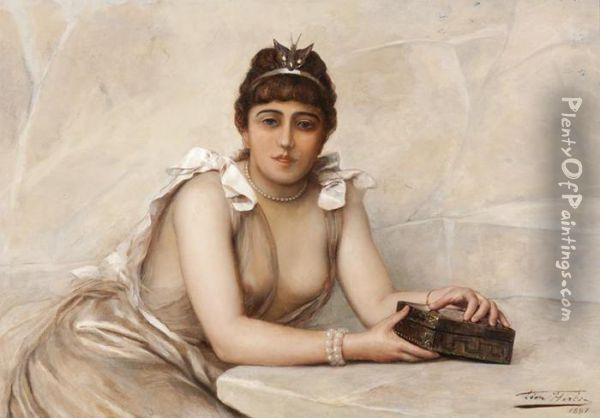 The Jewellery Case Oil Painting - Leon Herbo