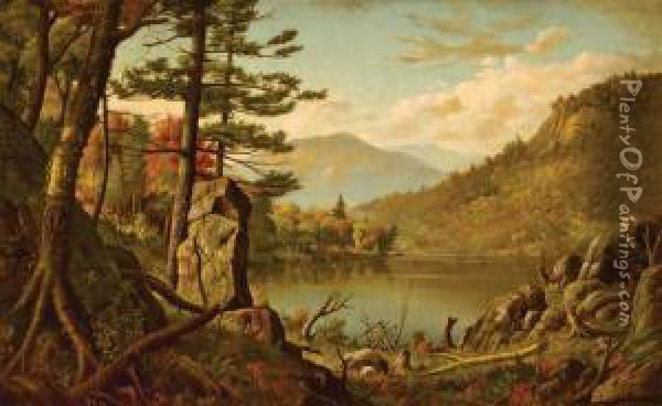 Adirondacks Oil Painting - Levi Wells Prentice
