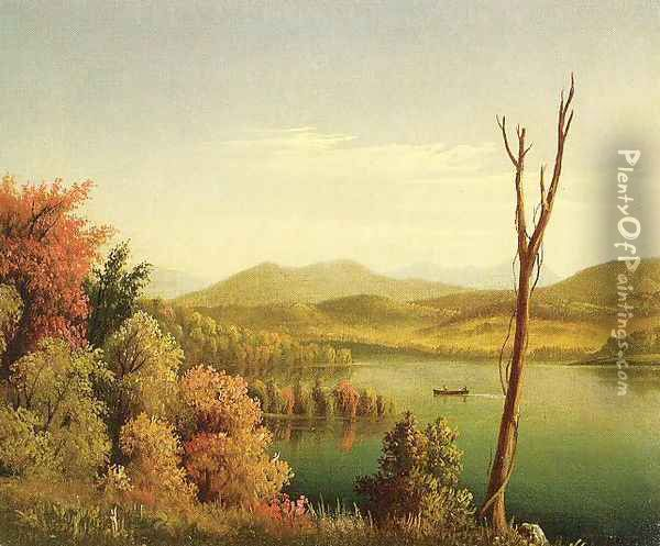 Andirondack Lake Oil Painting - Levi Wells Prentice