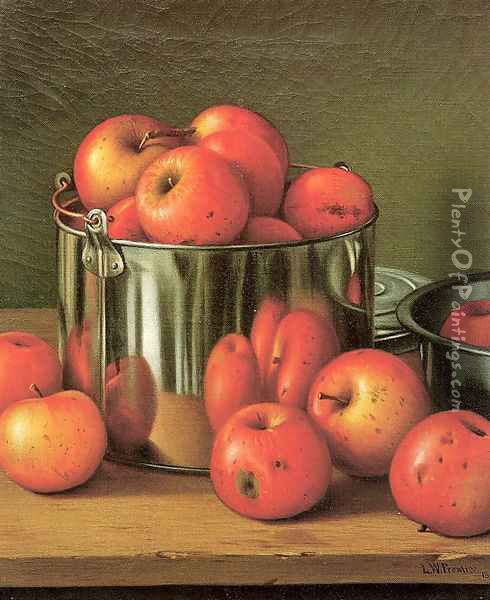 Apples in a Tin Pail 1892 Oil Painting - Levi Wells Prentice