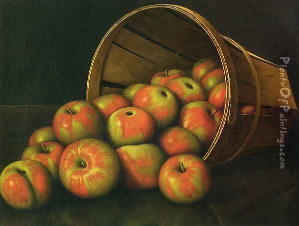 Basket of Apples Oil Painting - Levi Wells Prentice