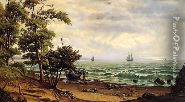 Clearing off the Coast of Maine Oil Painting - Levi Wells Prentice