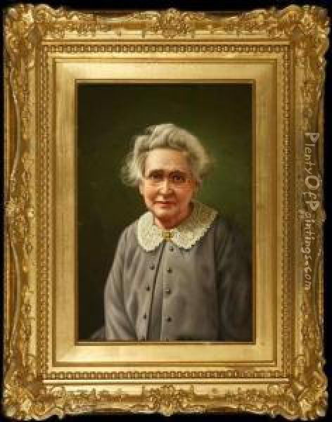 Portrait Of Artist's Mother Oil Painting - Levi Wells Prentice