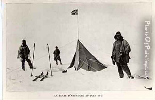 Tent left at the South Pole by Roald Amundsen Oil Painting - Lieutenant Henry Robertson ('Birdie') Bowers