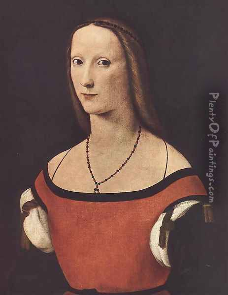 Portrait of a Woman 1500-06 Oil Painting - Lorenzo Costa