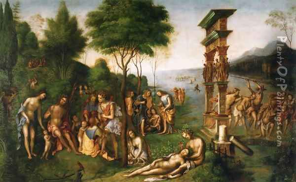 The Reign of Comus Oil Painting - Lorenzo Costa