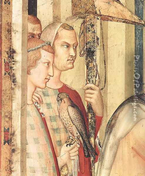 St. Martin is Knighted (detail-1) 1312-17 Oil Painting - Louis de Silvestre