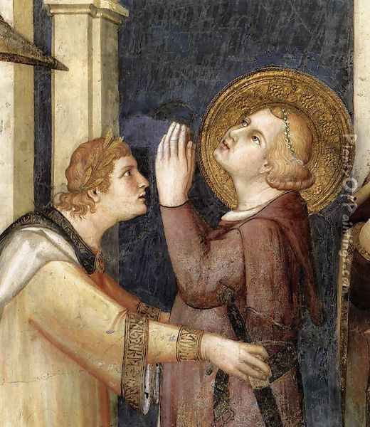 St. Martin is Knighted (detail-2) 1312-17 Oil Painting - Louis de Silvestre